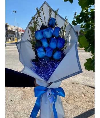 Ramo 10 rosas azules