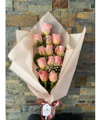 Ramo 12 Rosas Rosadas con...